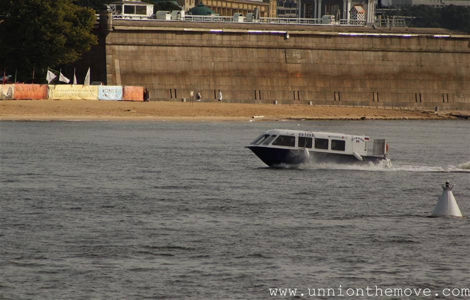 the Aqua-bus from the Neva waterways