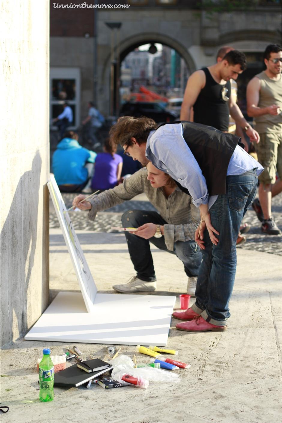 A Street artist in Amsterdam