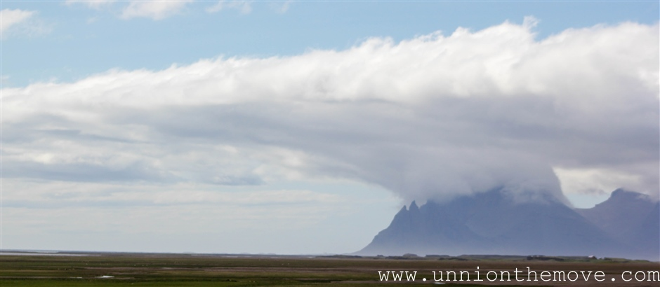 Cloud formation in South Iceland