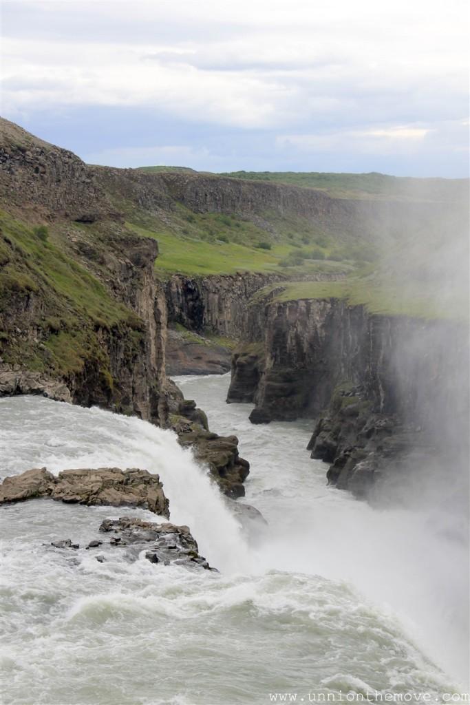 Gulfoss Waterfall final drop